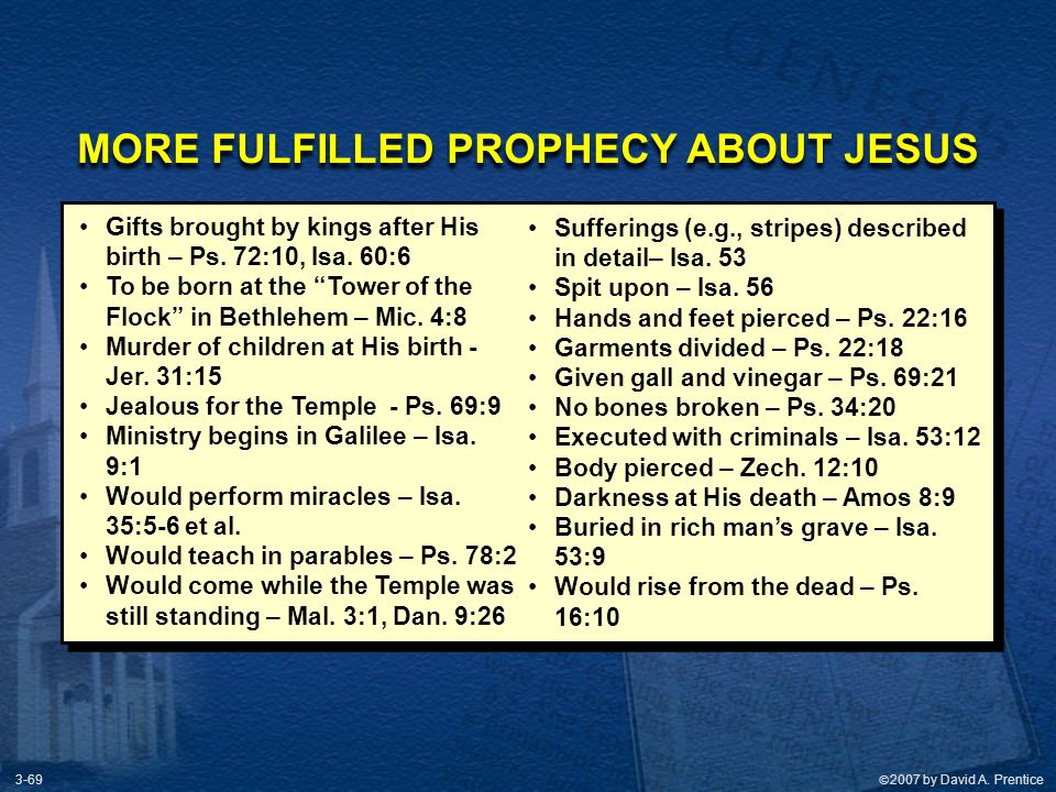 MORE FULFILLED PROPHECY ABOUT JESUS