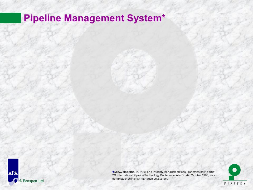 Pipeline Management System*