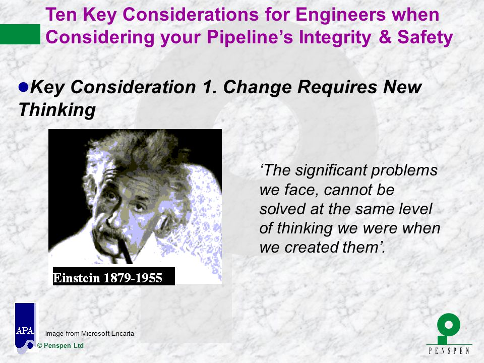 Key Consideration 1. Change Requires New Thinking