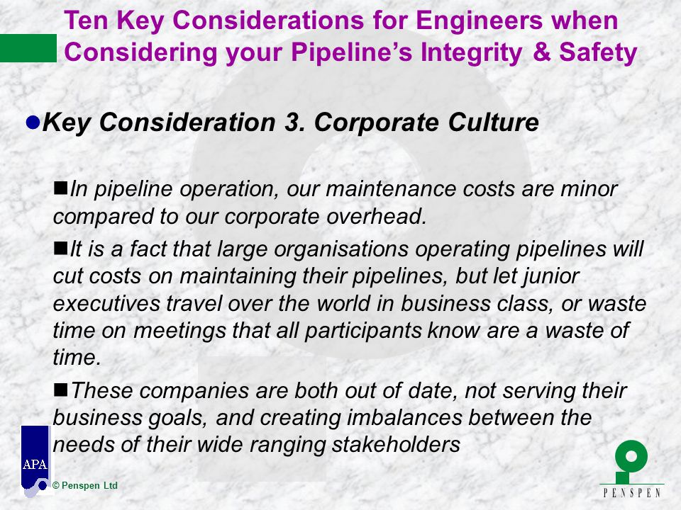 Key Consideration 3. Corporate Culture