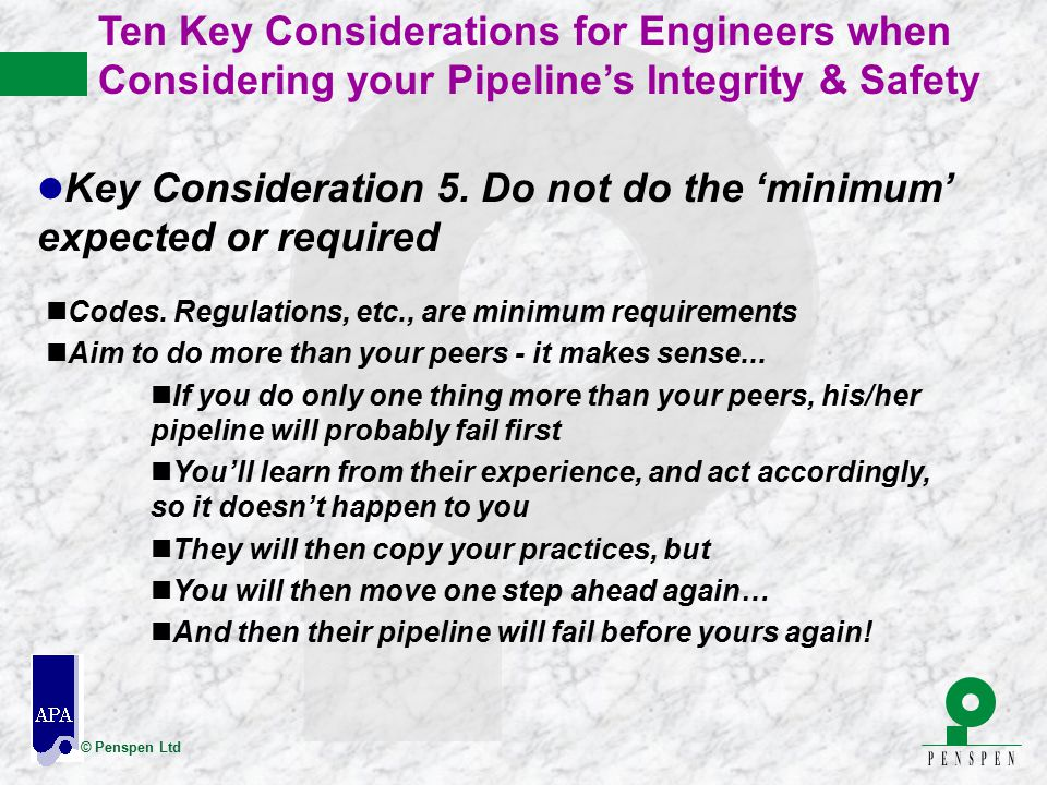 Key Consideration 5. Do not do the 'minimum' expected or required