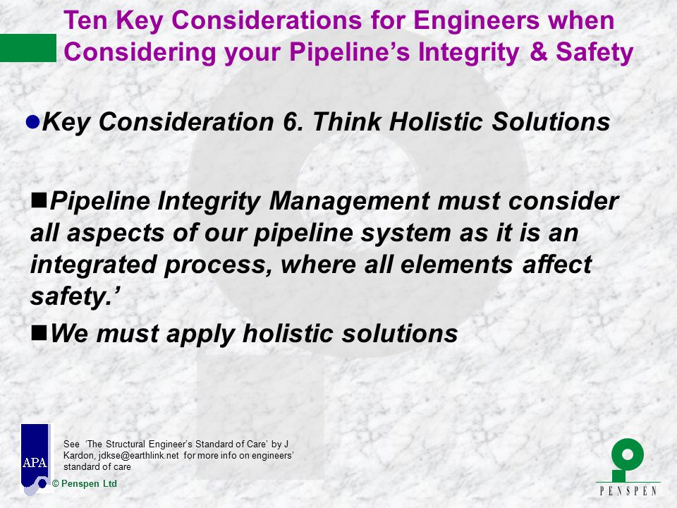 Key Consideration 6. Think Holistic Solutions
