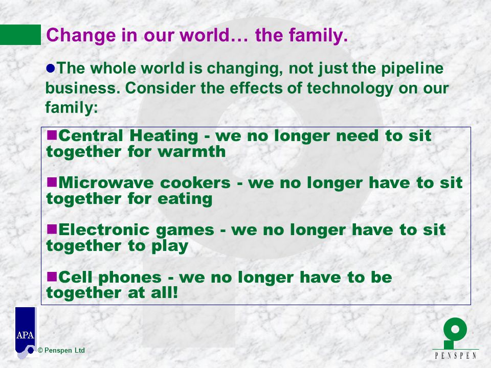 Change in our world… the family.