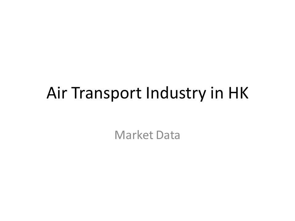 Air Transport Industry in HK