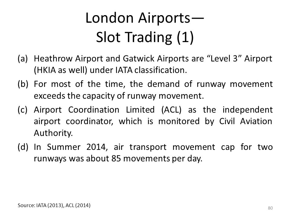 London Airports— Slot Trading (1)