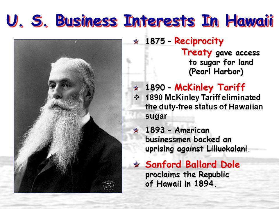 U. S. Business Interests In Hawaii