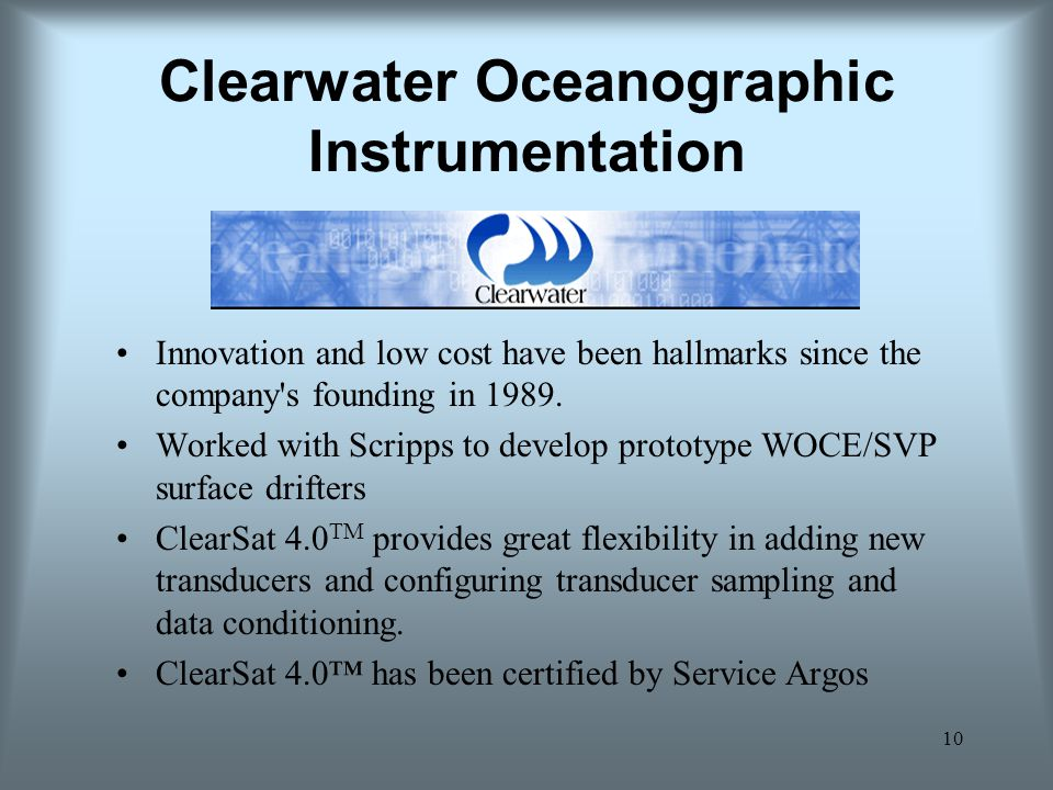 Clearwater Oceanographic Instrumentation