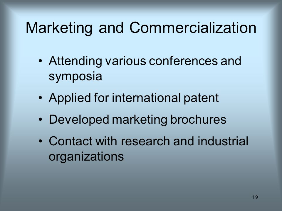 Marketing and Commercialization