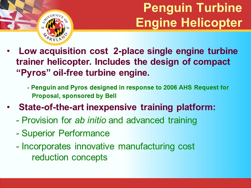 Penguin Turbine Engine Helicopter