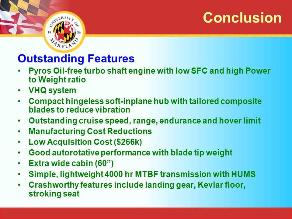 Conclusion Outstanding Features