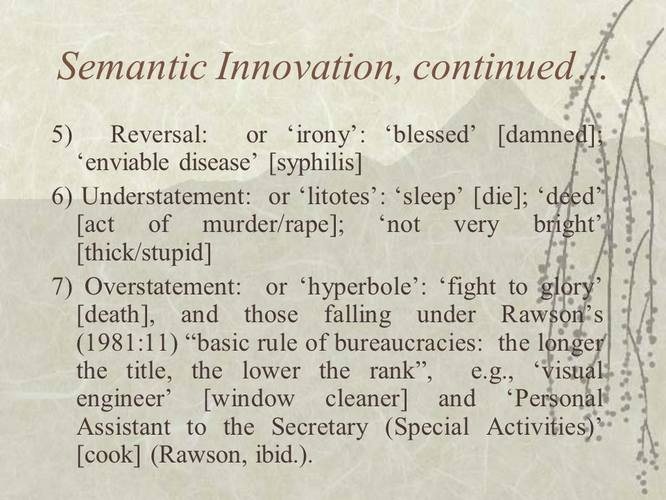 Semantic Innovation, continued…