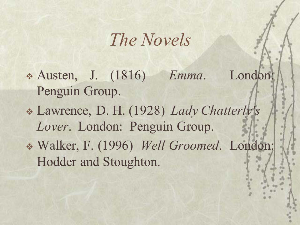 The Novels Austen, J. (1816) Emma. London: Penguin Group.