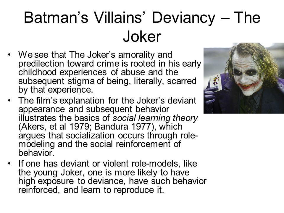 Batman's Villains' Deviancy – The Joker