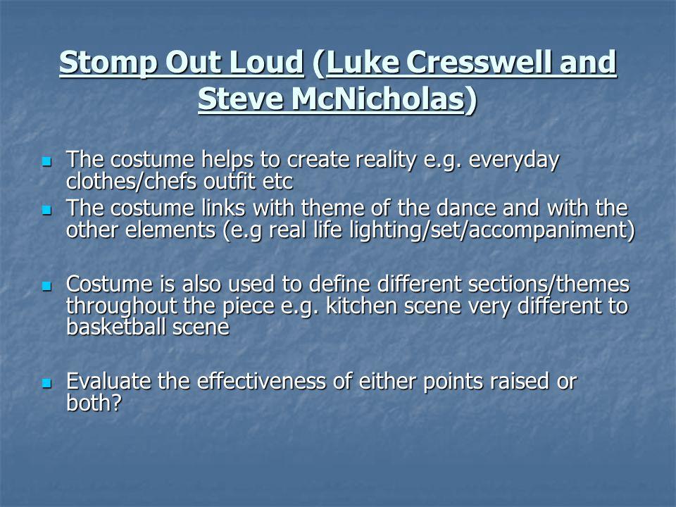 Stomp Out Loud (Luke Cresswell and Steve McNicholas)