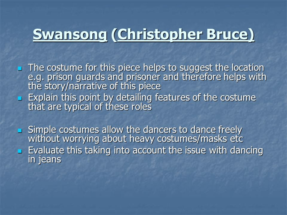 Swansong (Christopher Bruce)