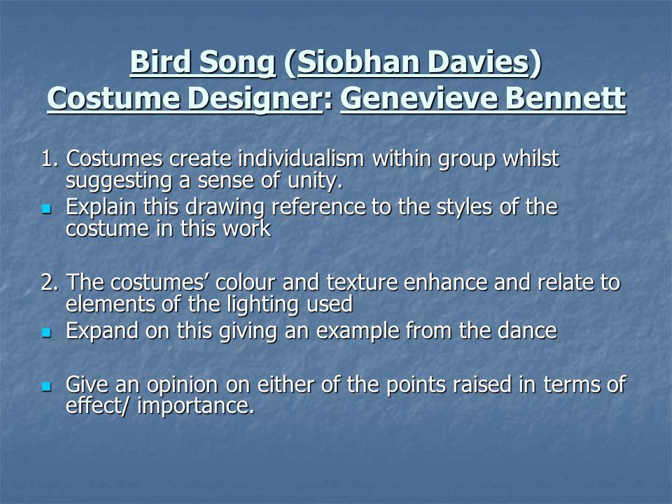 Bird Song (Siobhan Davies) Costume Designer: Genevieve Bennett