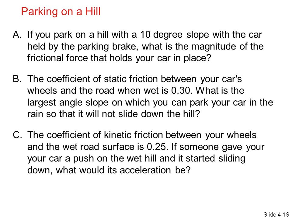 Parking on a Hill