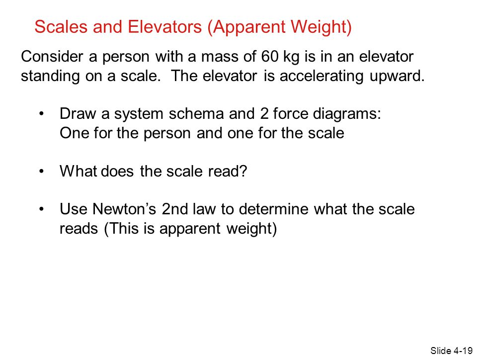 Scales and Elevators (Apparent Weight)