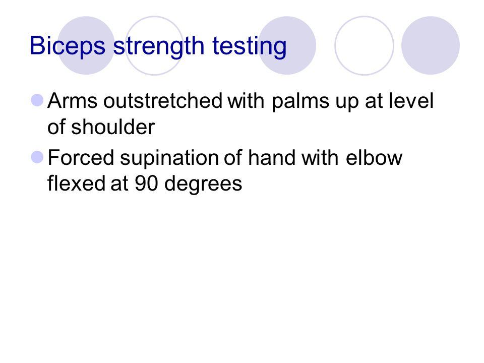 Biceps strength testing