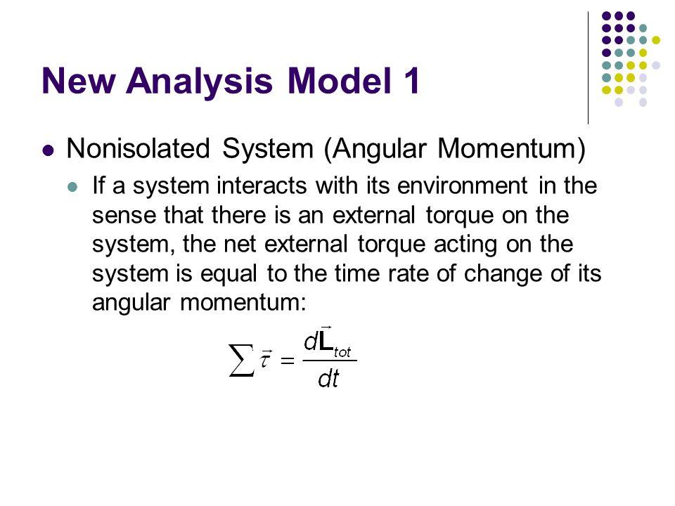 New Analysis Model 1 Nonisolated System (Angular Momentum)