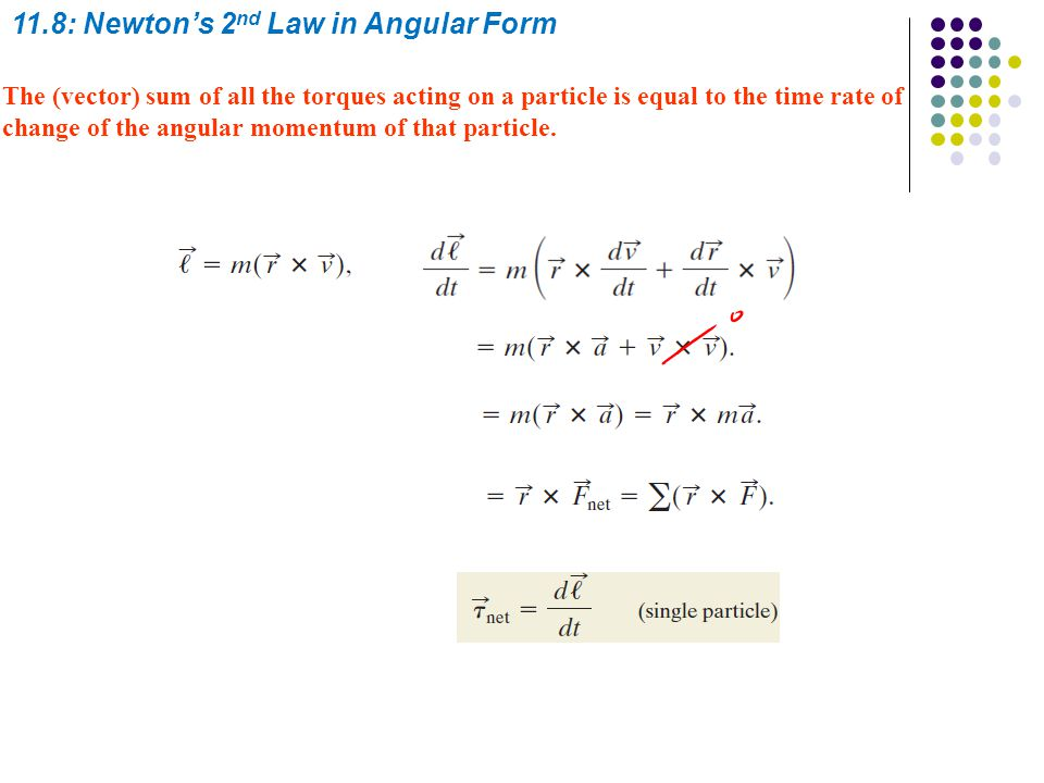 11.8: Newton's 2nd Law in Angular Form