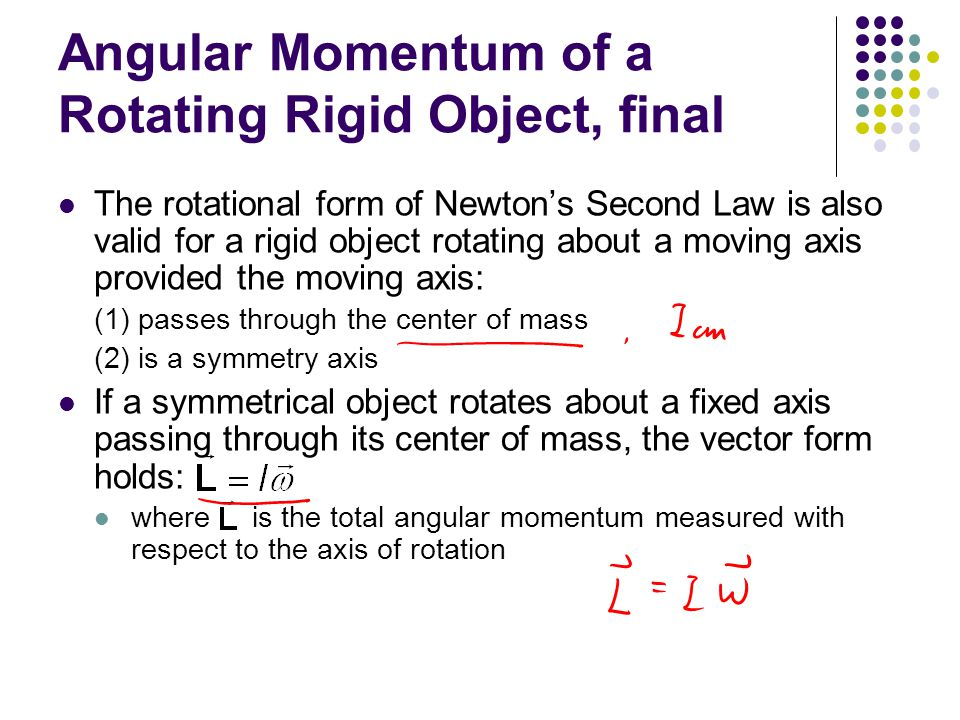 Angular Momentum of a Rotating Rigid Object, final