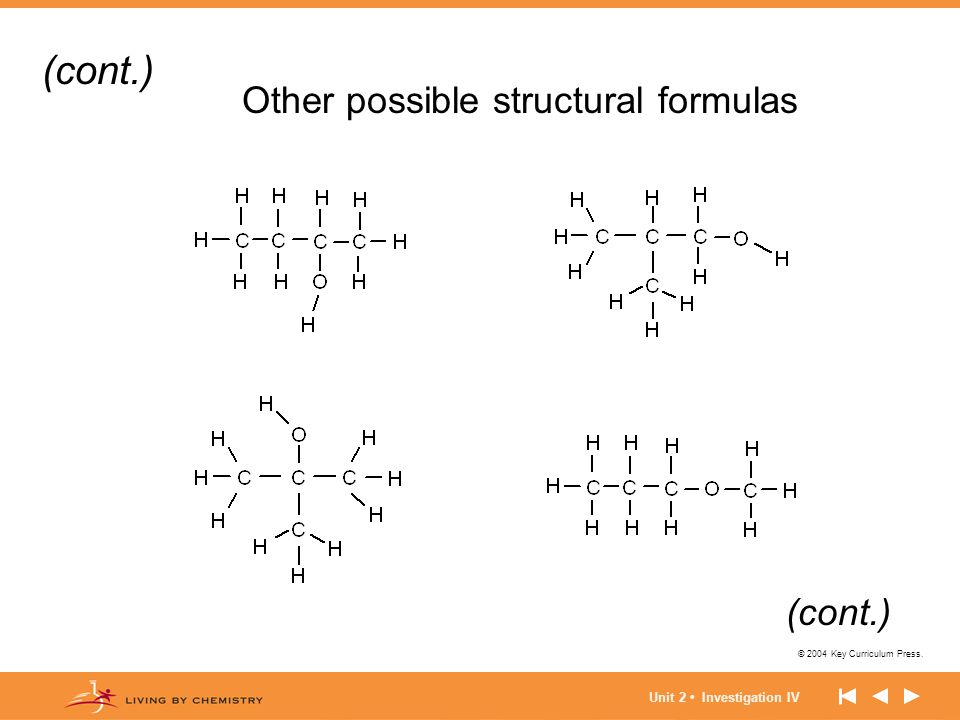 Other possible structural formulas