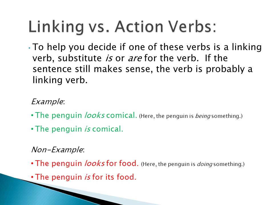 Linking vs. Action Verbs: