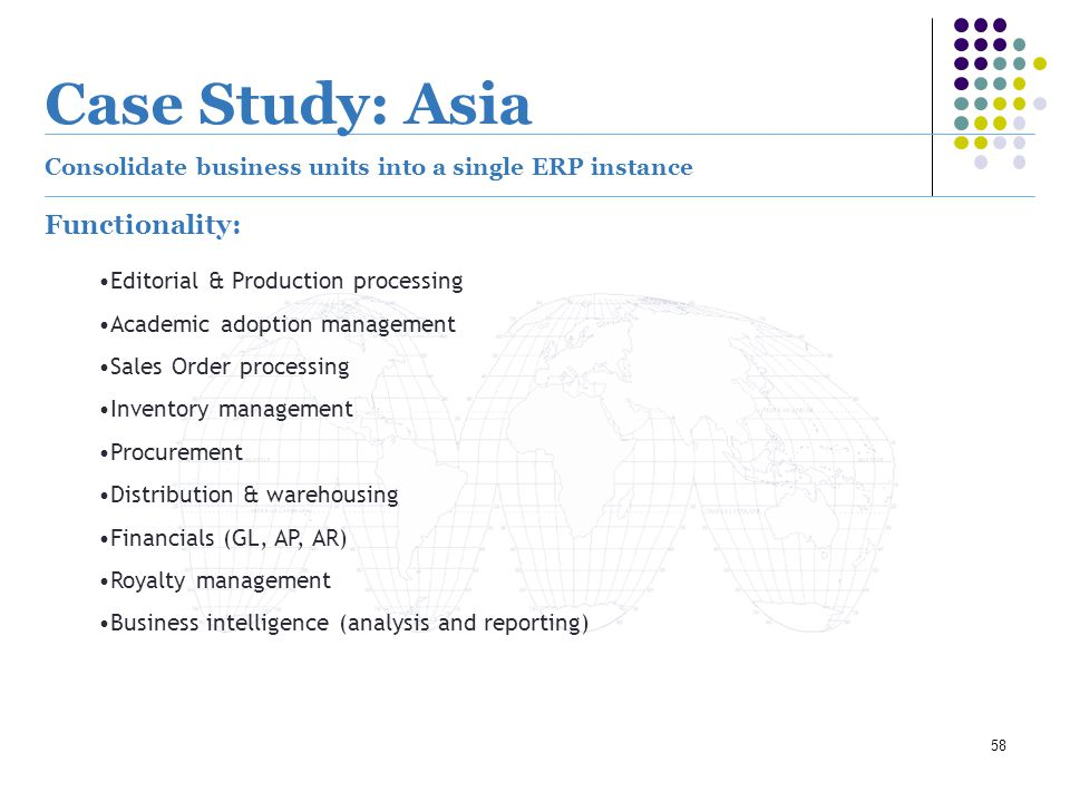Case Study: Asia Functionality: