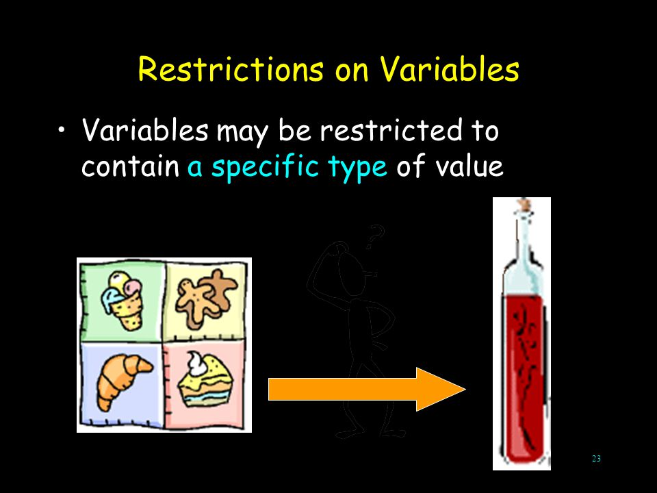 Restrictions on Variables