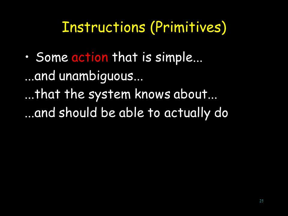 Instructions (Primitives)