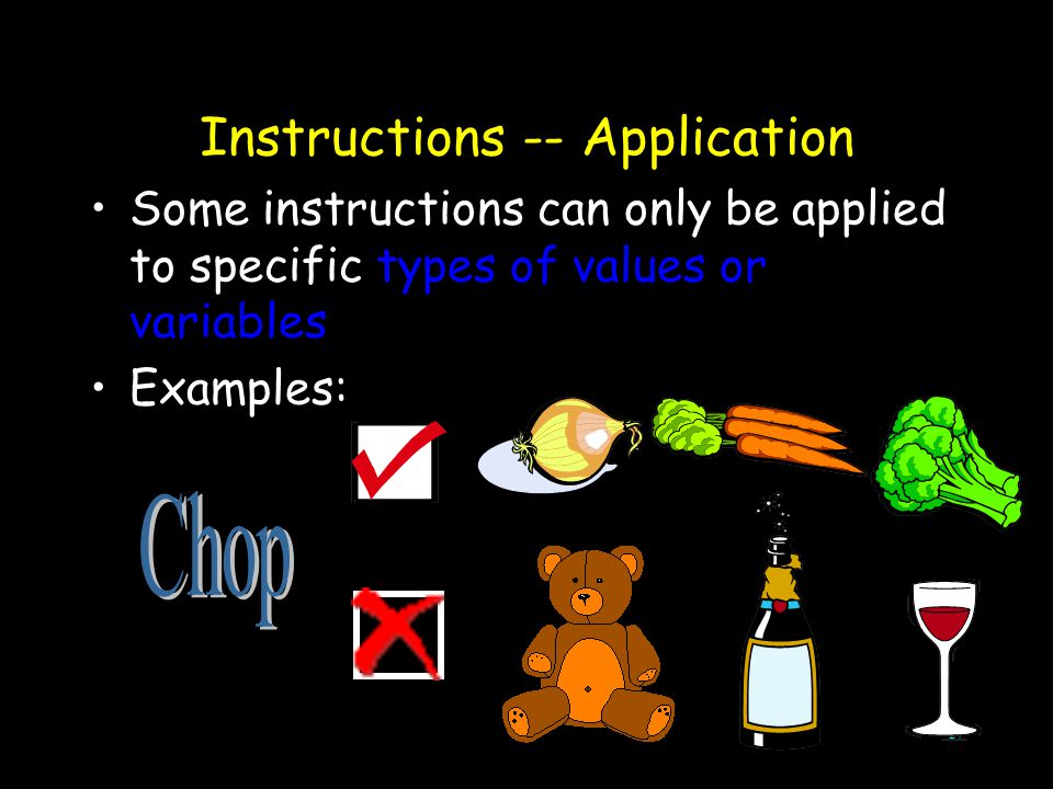 Instructions -- Application