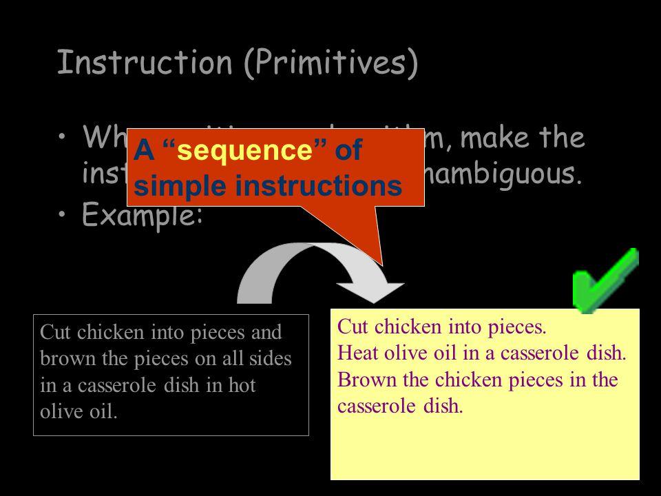 Instruction (Primitives)
