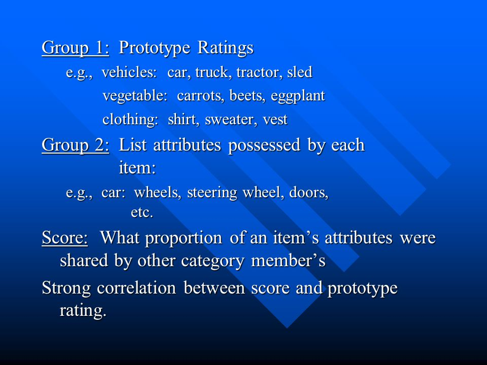 Group 1: Prototype Ratings