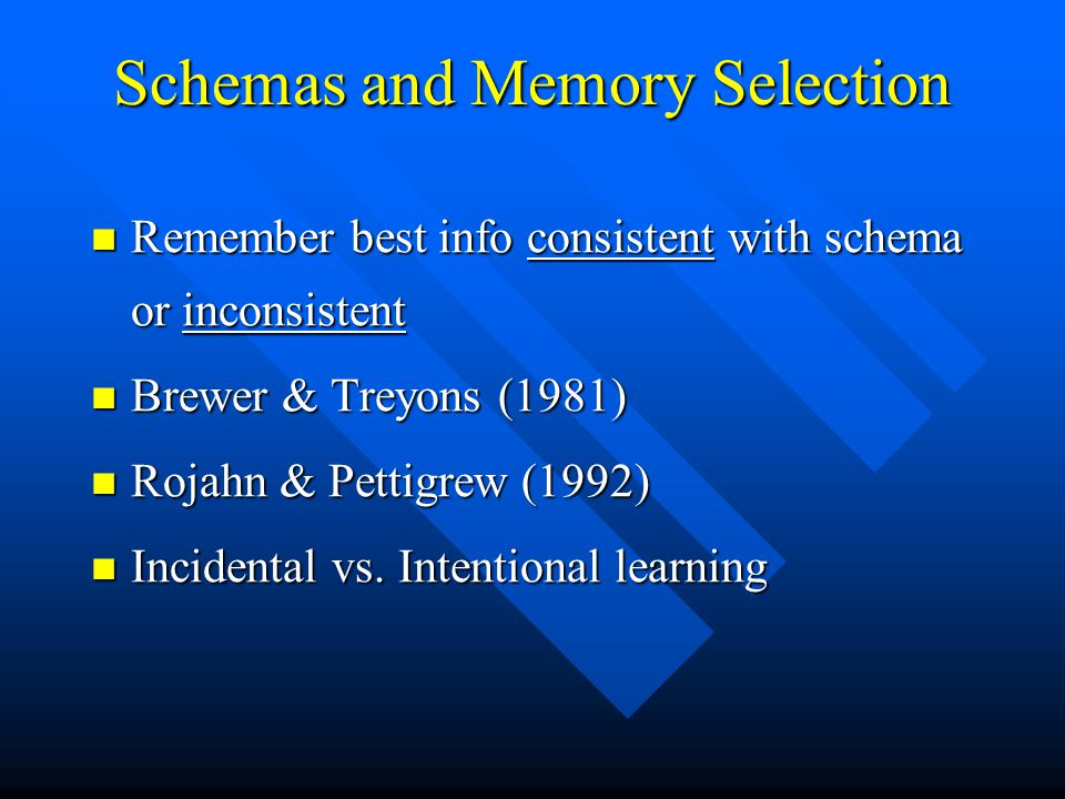 Schemas and Memory Selection