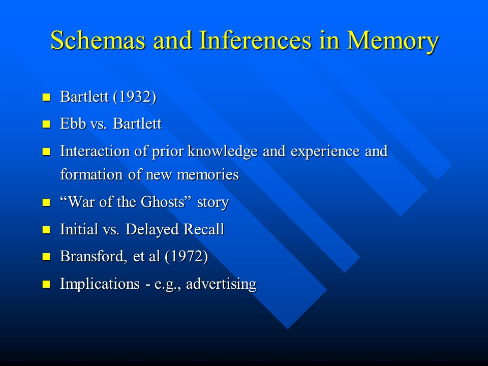 Schemas and Inferences in Memory