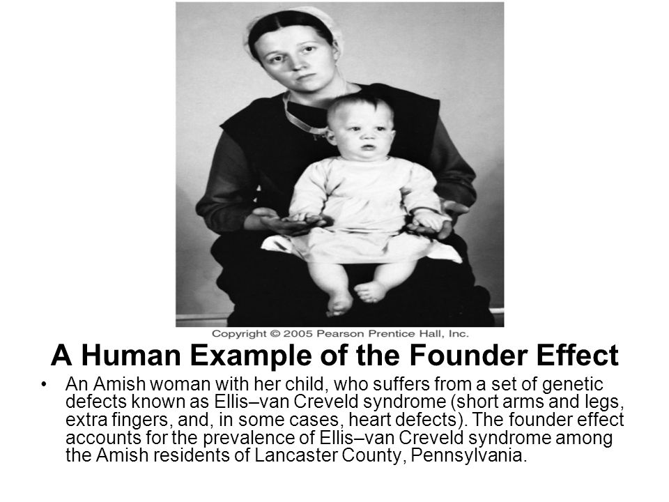 A Human Example of the Founder Effect