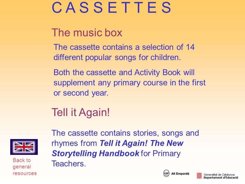 C A S S E T T E S The music box Tell it Again!