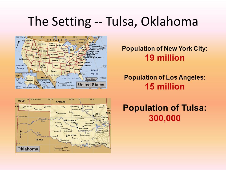 The Setting -- Tulsa, Oklahoma