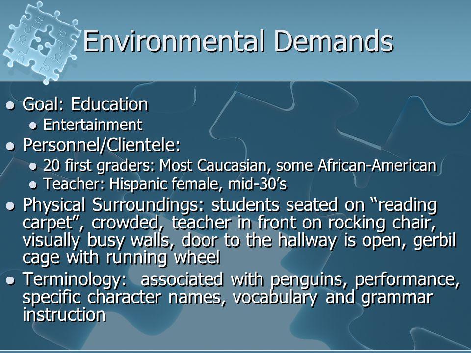 Environmental Demands
