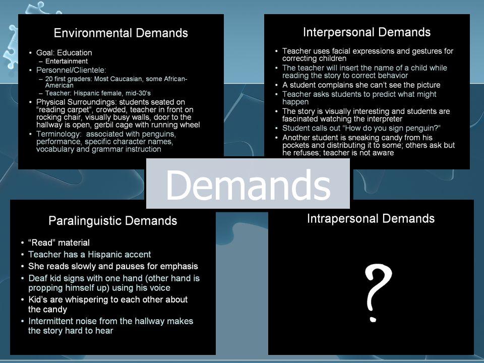 Robyn K. Dean, FIPSE 2007 Demands