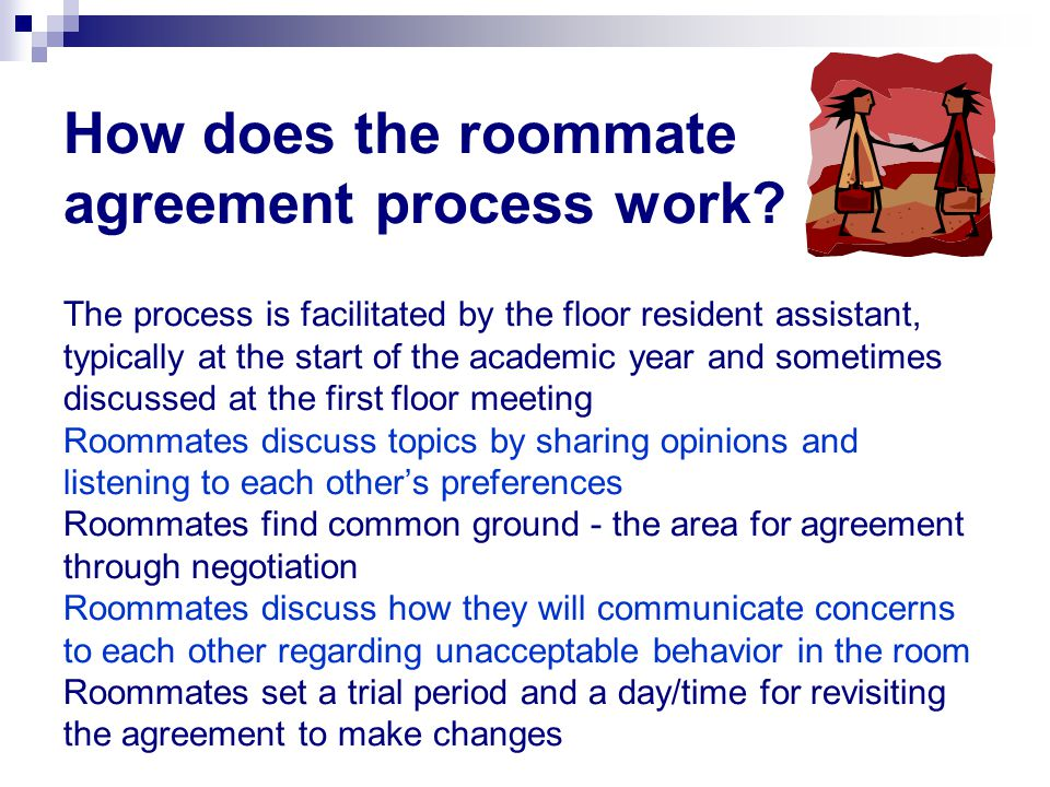 How does the roommate agreement process work