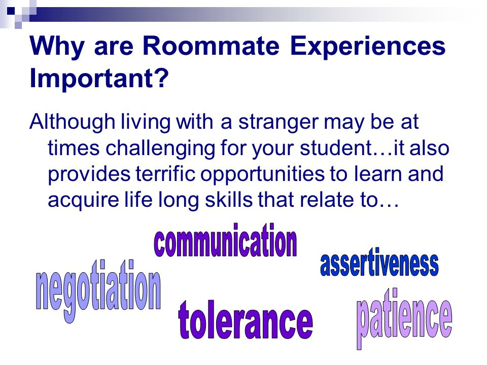 Why are Roommate Experiences Important