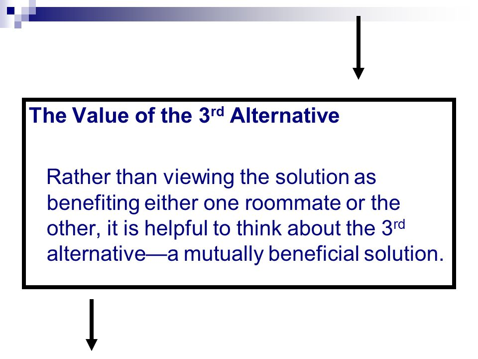 The Value of the 3rd Alternative