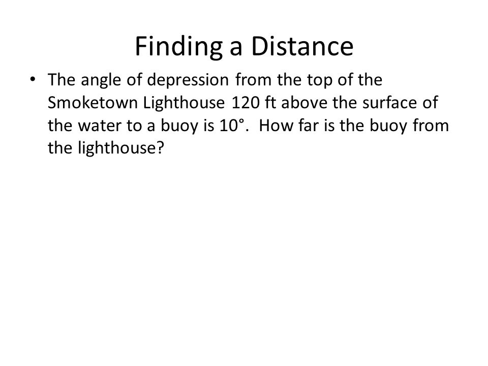 Finding a Distance