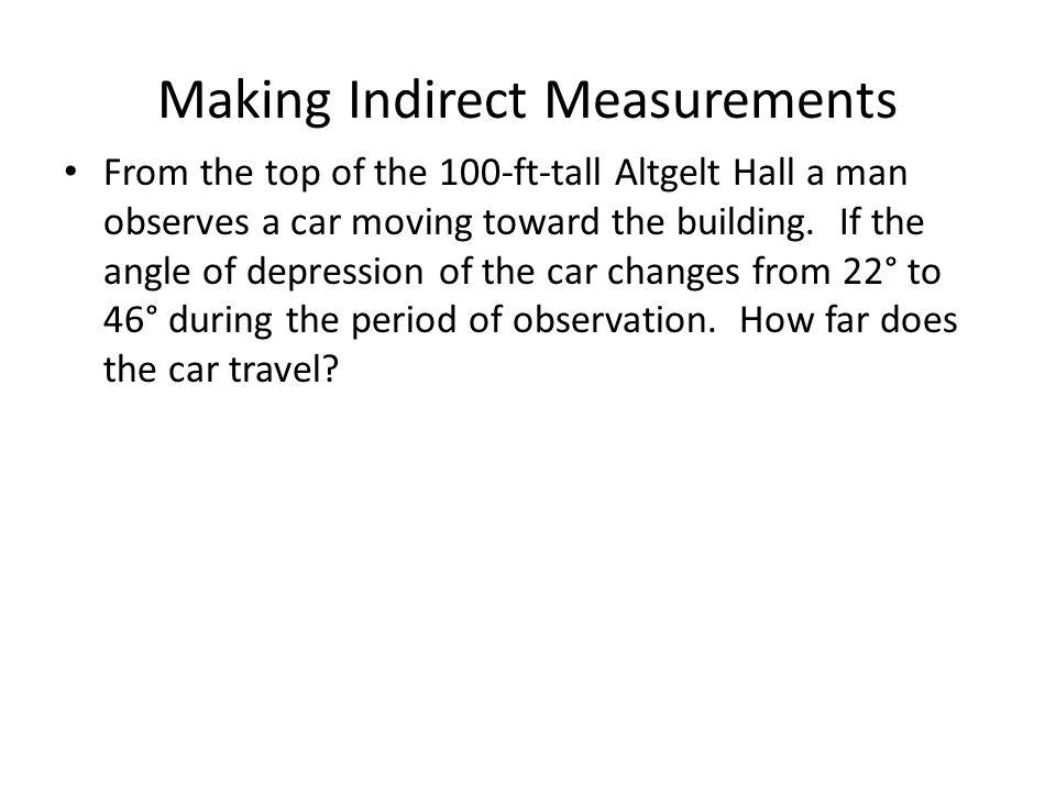 Making Indirect Measurements