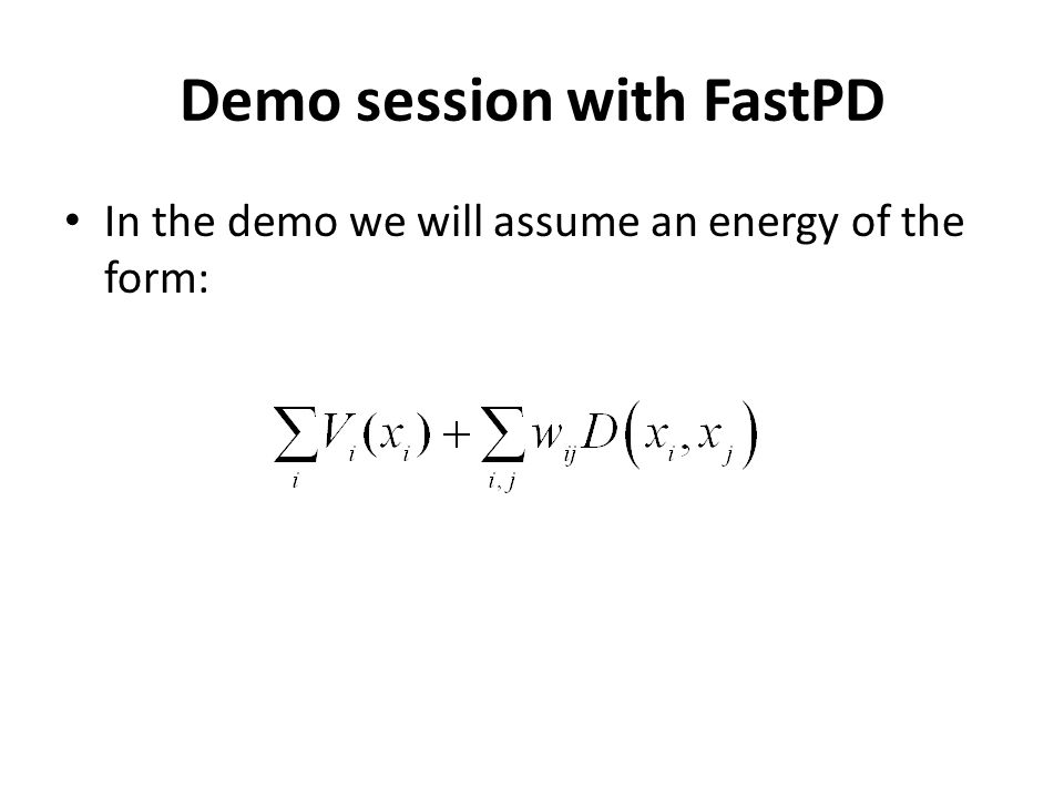 Demo session with FastPD