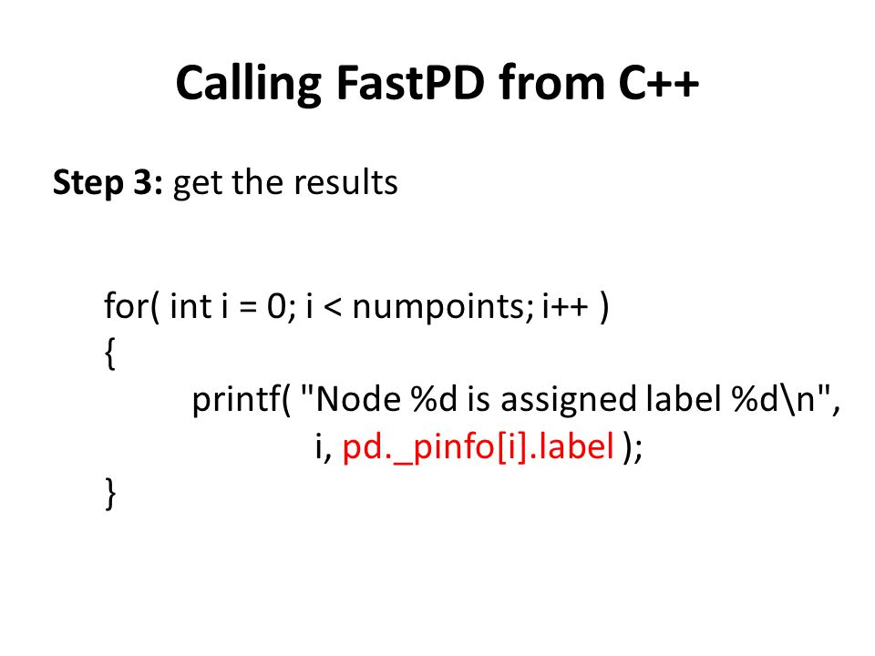 Calling FastPD from C++