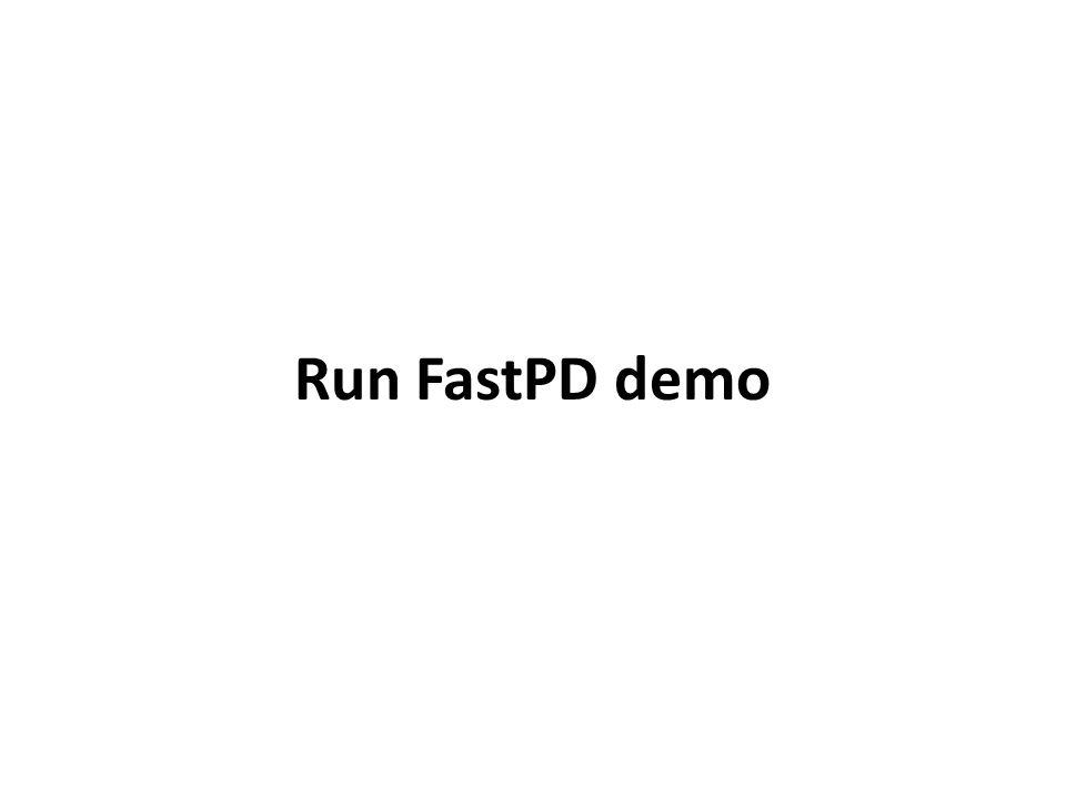 Run FastPD demo