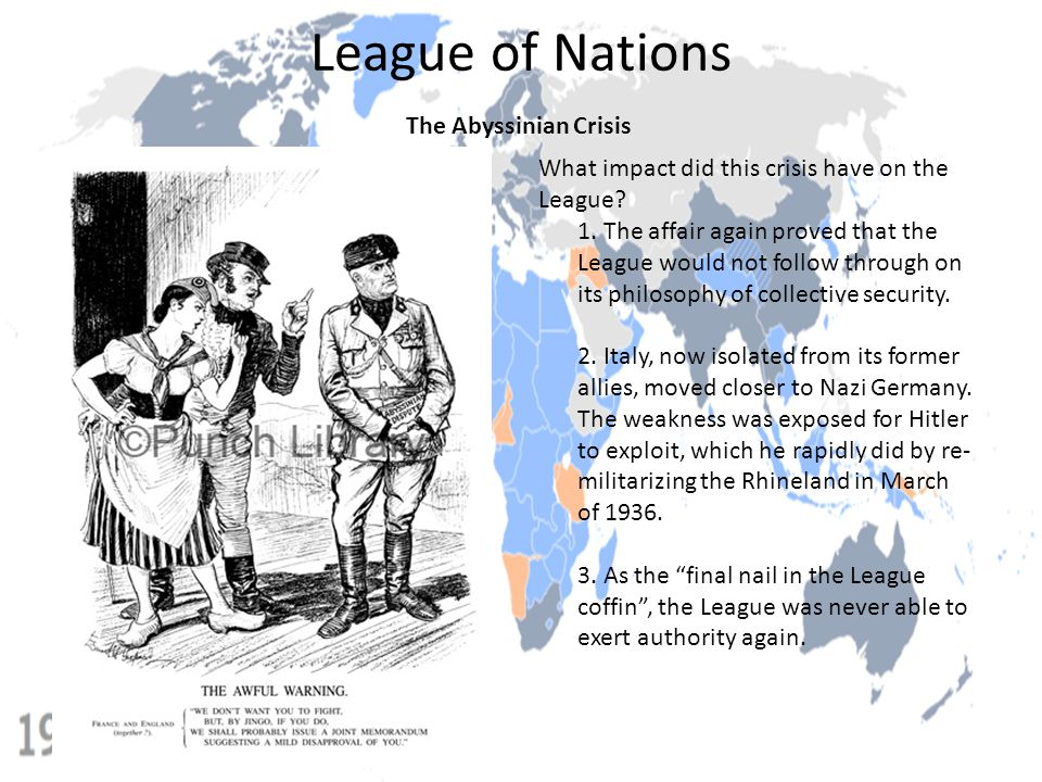 League of Nations The Abyssinian Crisis